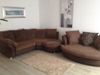 LOVELY SUITE *** CORNER SOFA + FOOT STOOL + LOVE CHAIR ***GREAT CONDITION *** DELIVERY AVAILABLE ***