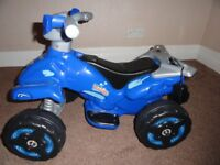 Toy Electric Quad Bike Ideal for 3 to 5 Year Old's Near New