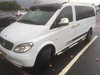 2008 08 reg Mercedes Vito 1112.2 diesel 9 seater minbus 6 speed manual ex conditin 5.995