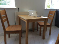 Small dining table and 4 chairs