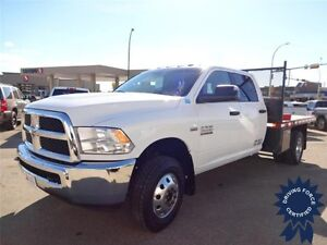 2014 Ram 3500 SLT - 9' Flatdeck, Dual Rear Wheels, 54,372 KMs