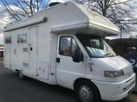 6 berth Fiat ducato ehagh only 56k miles with history & extras excellent motorhome 2004. BARGAIN