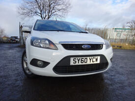 011 FORD FOCUS ZETEC 1.8,5 DOOR,MOT JAN 019,2 OWNERS FROM NEW,PART SERVICE HISTORY,VERY RELIABLE CAR