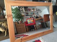 Lovely wooden wall mirror great condition, wooden frame