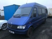 Mercedes sprinter 312d lwb mini bus breaking spare parts available