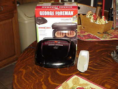 George Foreman 2-Serving Classic Plate Electric Indoor Grill Black GR10B for sale  Brick
