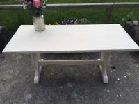 Cream shabby chic coffee table