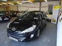 2008 PEUGEOT 308 1.6 MANUAL HATCHBACK, BLACK, FULL SERVICE HISTORY, VERY CLEAN CAR, DRIVES VERY NICE