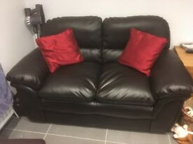 Leather 2 seat sofa