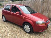 Daewoo Kalos SX 16V 1399cc Petrol Automatic 5 door hatchback 53 Plate 30/01/2004 Red