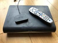 Sky box, remote and wireless adapter