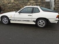 Porsche 924s 1988 White, with 1986 924 donor car available also.