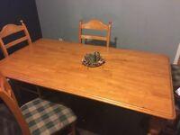 6ft solid wood table £80 o.n.o