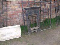 victorian cast iron bedroom fire, £25