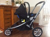 Mothercare 3 Wheel Pram, Black, Excellent condition, only 1 year old, Very Clean.