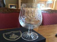 Set of 2 Burns Crystal Glasses