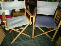 Chairs folding directors X2 £10 the pair