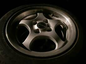 """Set of 4 BORBET T 14""""x7j wide alloy wheels and tyres"""