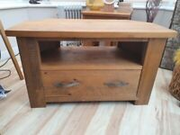 Next hartford oak tv unit and nest of tables