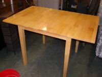 Hardwood Drop Leaf Dining Table. Good Condition