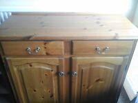 Solid pine t.v cabinet/dresser