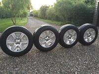 Genuine Landrover Freelander 2 Alloys and Goodyear Wrangler Tyres