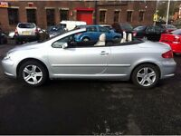 Peugeot 307 CC, 2.0, 2dr, white leather,alloys, A/C, 2004, silver 61, 063 miles