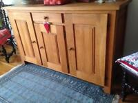 Solid oak 3 Door 1 Drawer Sideboard