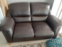 2x parker knoll leather sofas