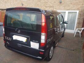 Mercedes benz Vito black cab 60 plate **cab direct taxi**wheelchair access**