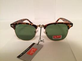 Ray Ban Clubmaster Sunglasses RB3016 (tortoiseshell Brown/dark green lens)