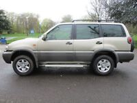 2003 53 NISSAN TERRANO 3.0 SVE TD 4X4 7 SEATER FULL HISTORY LONG MOT LEATHER SUNROOF TOW BAR PX SWAP