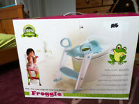 Froggie Toddler Toilet seat with ladder