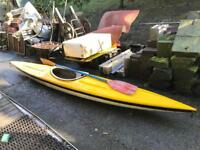 Kayak with paddle