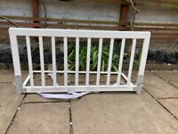 BabyDan white wooden bed guard rail