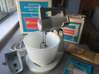 Vintage 1960s Kenwood Chefette No.325, complete kit, boxed