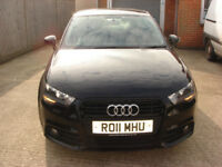 Audi A1 Sport TFSI 2011 11plate black 3 door hatch