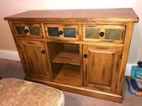 Solid oak coffee table,side table and side board