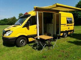 Mercedes sprinter LWB camper van conversion motorhome motor caravan Hi Top