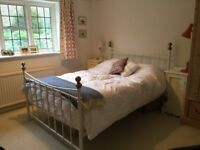 DOUBLE METAL BED AND MATTRESS