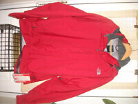 north face hyvent jacket in red,new with tags ,cost £100+ size uk XL,ABSOLUTE BARGAIN SO NO OFFERS