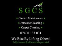 Domestic & Carpet Cleaning + More. By SGCS