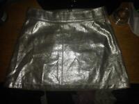 Brand new Pull & Bear small silver miniskirt