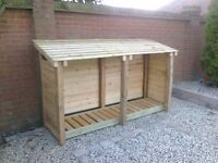LOG STORE ALL SIZES MADE HEAVY DUTY NO RUBBISH CHEAPEST AROUND