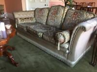 Classic 3 person sofa and two matching chairs
