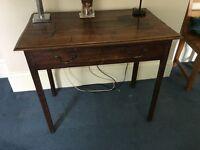 Dark wood old hall table