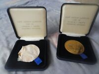2 x hockey leagues medals