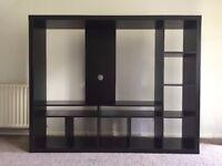 IKEA Black/Brown TV unit
