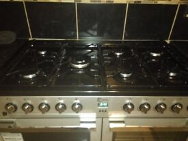 7 gas hob, double fan assisted oven and grill for sale. Almost brand new.