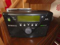 Roberts Uno Logic Black DAB Radio (Battery / Mains)